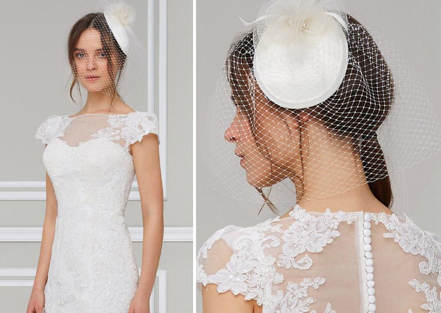 2021 Nikah İçin Vualet Gelin Şapkası