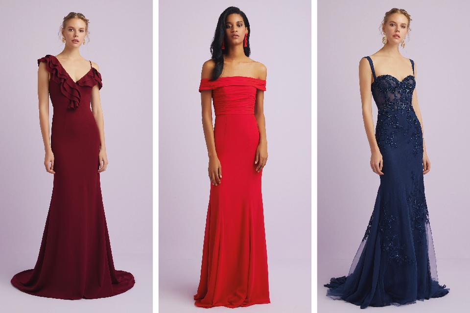 74f39ab4ea8ce Üniversite Mezuniyet Kıyafetleri Bayan Dar Kesim Bordo, Kırmızı, Mavi Oleg  Cassini