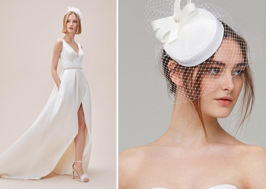Dantelli Vintage Nikah Şapkası Vualet
