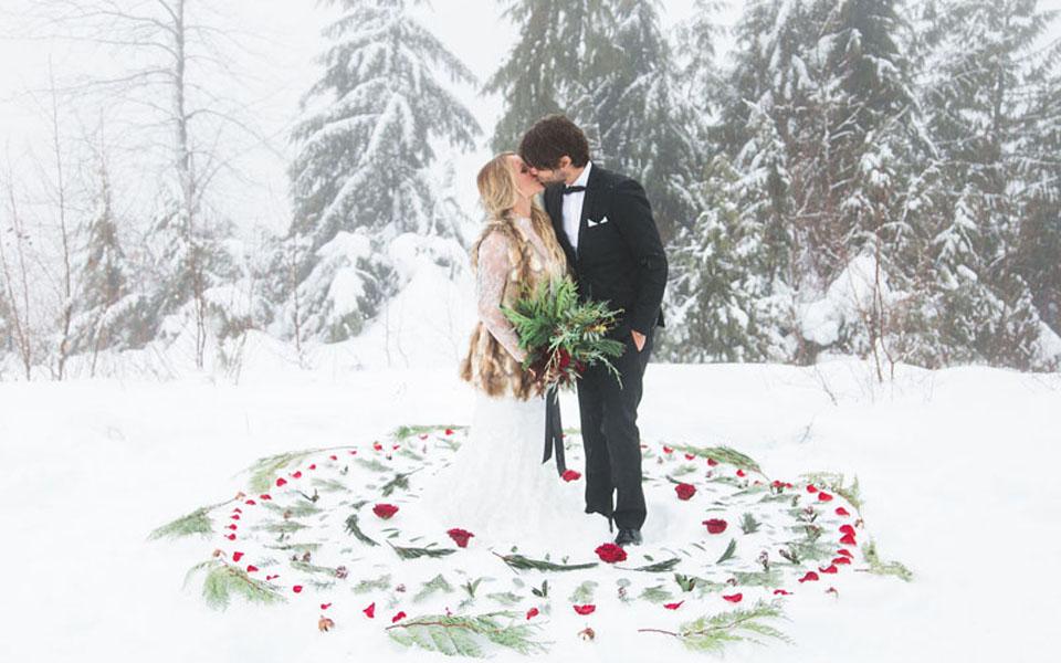 Kış Düğünü Fotoğrafı