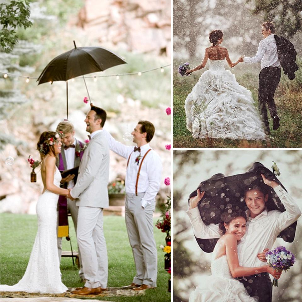 Yağmurlu Havada Düğün Fotoğrafları